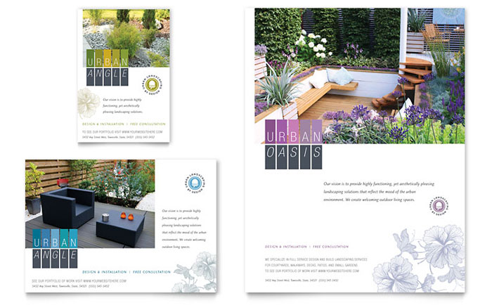 Stylish and Functional Marketing Materials for Urban Landscaping ...