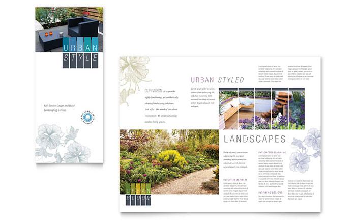 Urban Landscaping Tri Fold Brochure Example