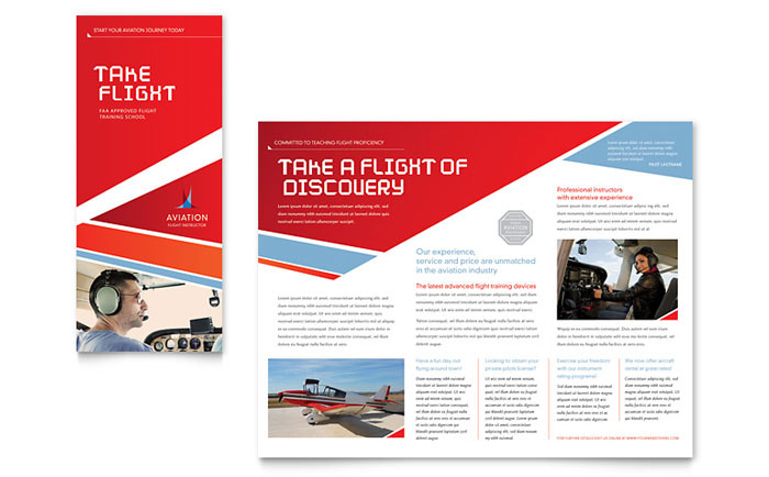 Tri Fold Brochure Example - Aviation Flight Instructor