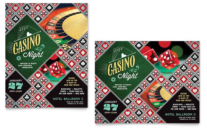 Casino Night Poster Design Idea