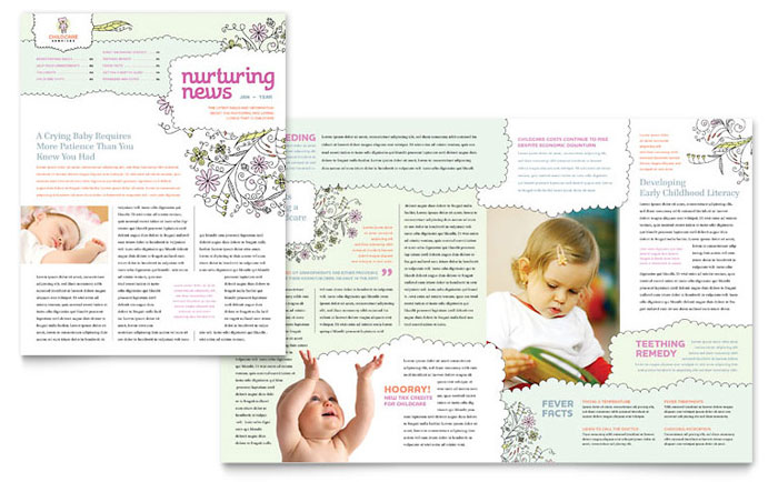 Baby & Child Day Care Newsletter Design