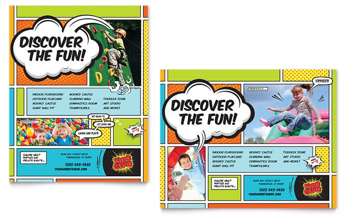 Flyer & Ad Sample - Kids Club