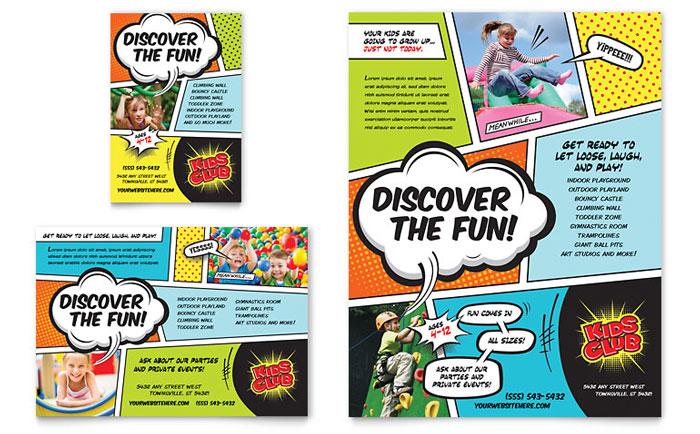 Advertisements & Flyer Sample - Kids Club