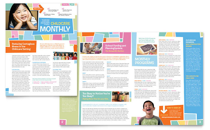 preschool newsletter design example