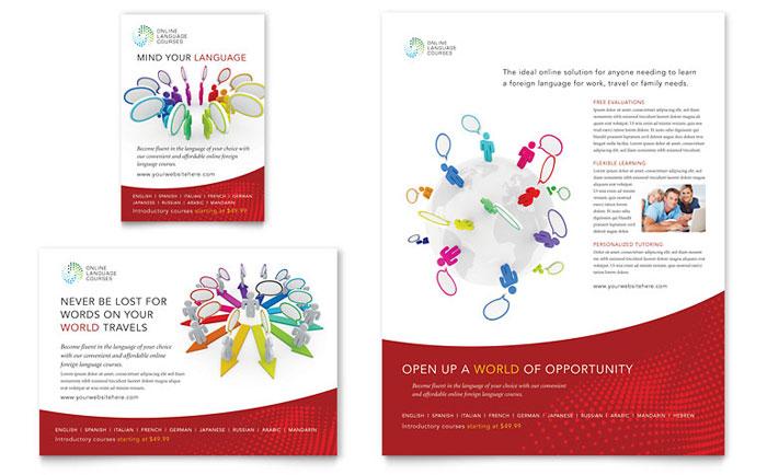 Language Arts Flyer & Ad Design