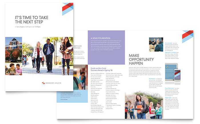 Community College - Brochure Design Example