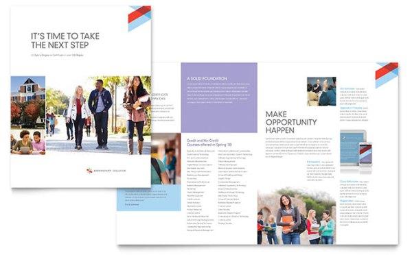 Community College Brochure Template Design