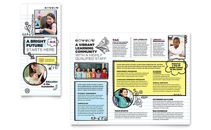 Elementary School Brochure Design Idea