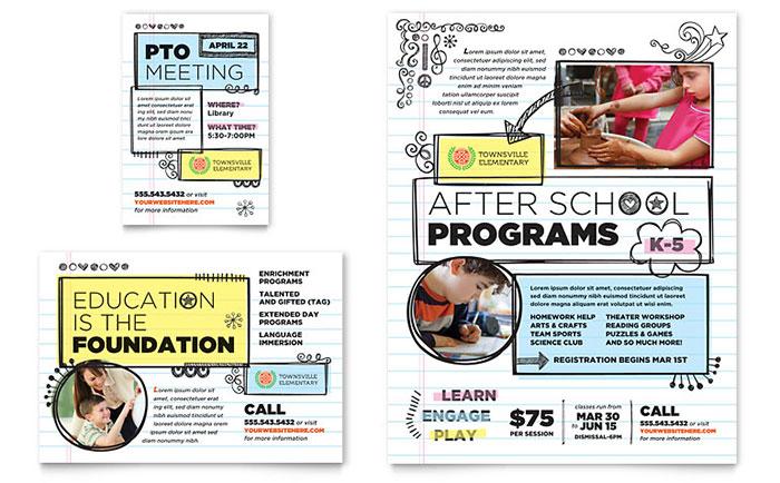 Elementary School Flyer Design Ideas