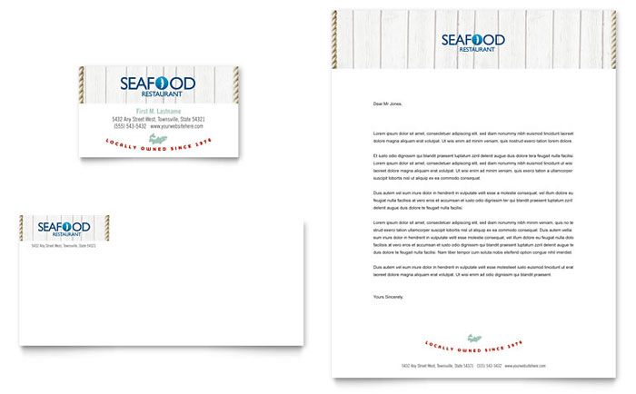 Seafood Restaurant Business Card Design