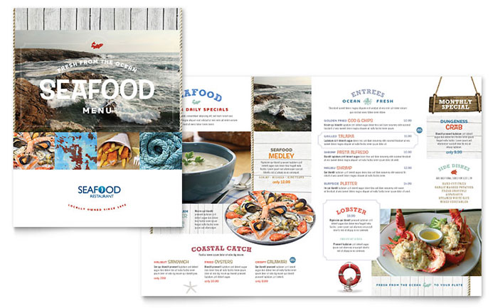 Seafood Restaurant Menu Design