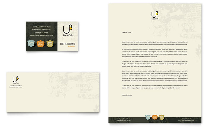 Brewery Letterhead & Business Card Design