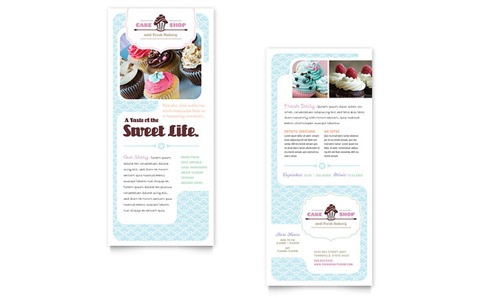 Bakery & Cupcake Shop - Rack Card Example