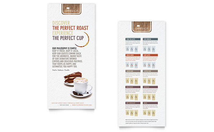Coffee Shop Rack Card Design