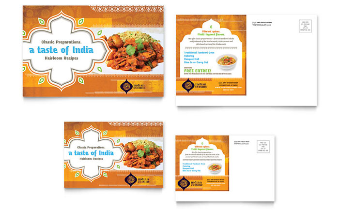 Postcard Sample - Indian Restaurant