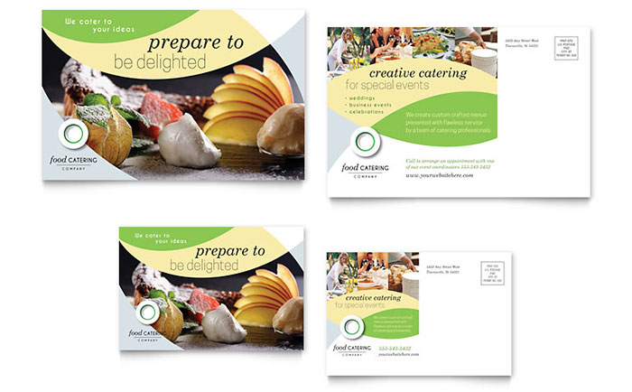 Food Catering - Postcard Design