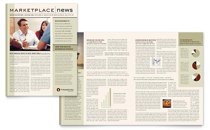 Financial Planner Newsletter Template Design