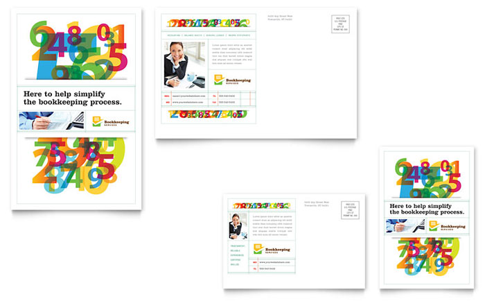 Bookkeeping Services Postcard Design