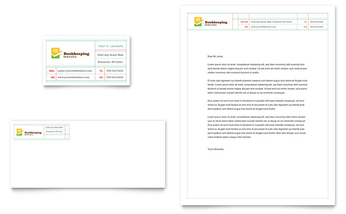 Bookkeeping Services Stationery Design