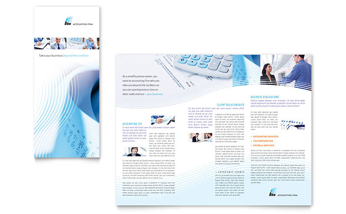 Accounting Firm - Tri-Fold Brochure Example