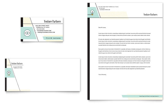 Venture Capital Firm - Letterhead & Business Card Design Example