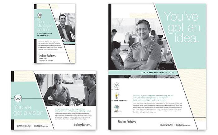Venture Capital Firm - Flyer & Ad Design Example