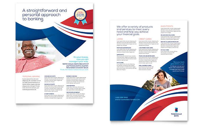 Bank Flyer Design Idea