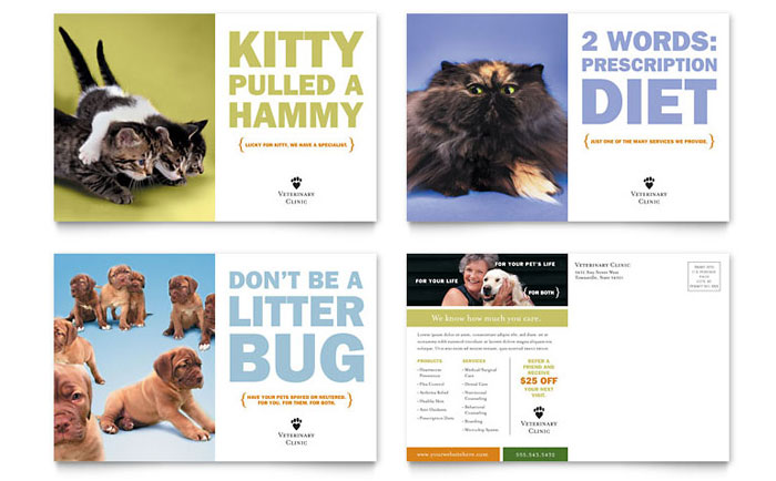 Veterinary Clinic Postcard Idea