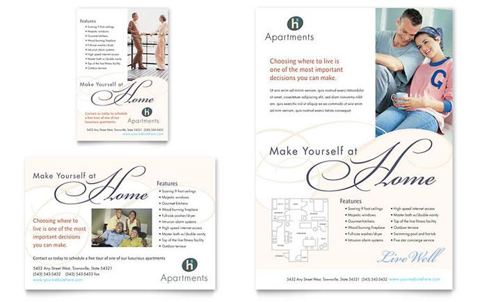 Luxury Apartment Flyer Design Example