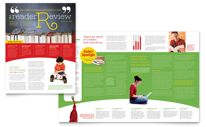 School Library Newsletter Design Example
