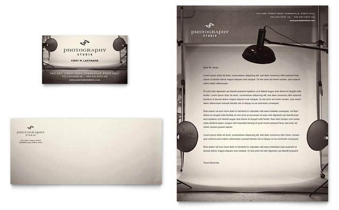 Photography Studio Business Card Amp Letterhead Template Design