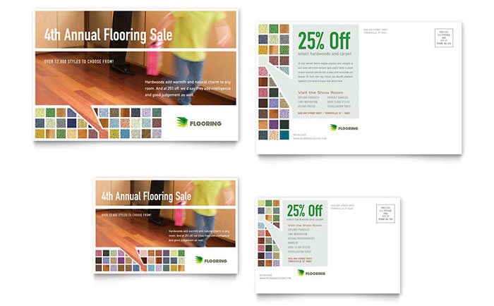 Carpet & Hardwood Flooring Postcard Design