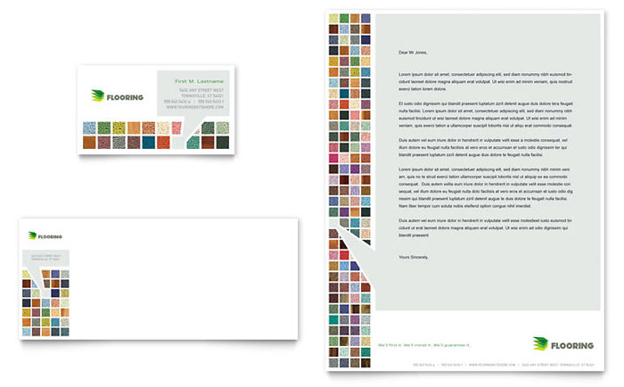 Carpet & Hardwood Flooring Business Card & Letterhead Design