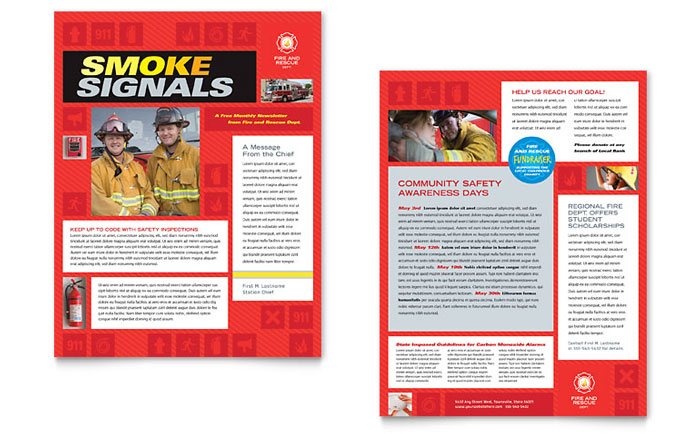 Fire Safety Newsletter Design