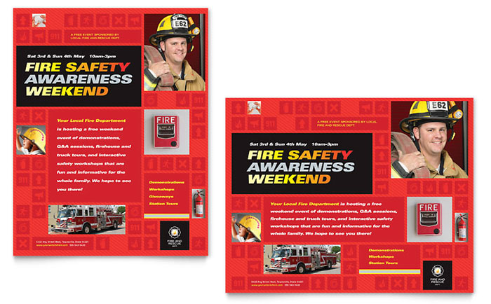 Fire Safety Poster Design