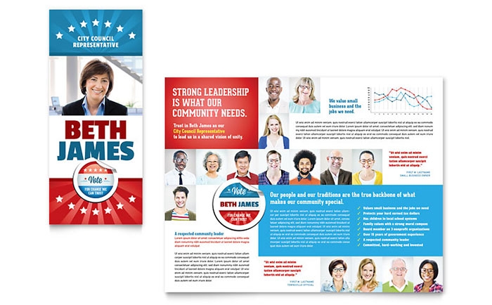 Political Candidate - Brochure Design Example