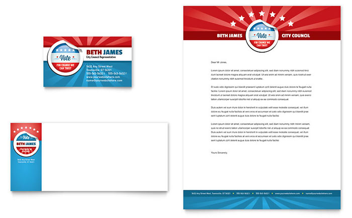 Political Candidate - Business Card Design Example
