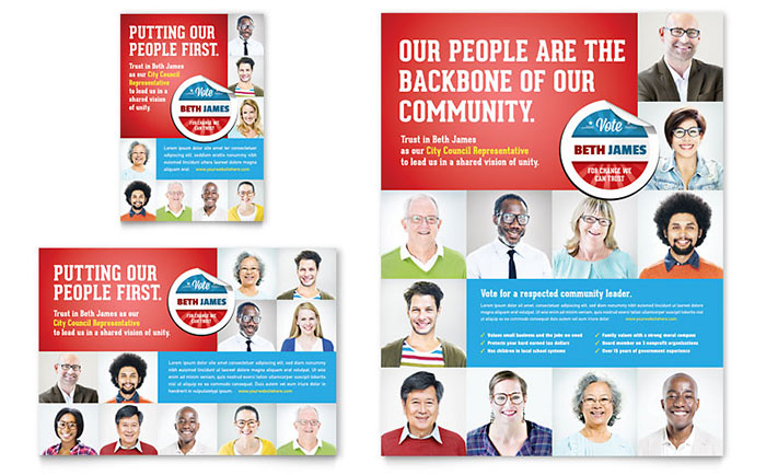 Political Candidate - Flyer & Advertisement Design Example