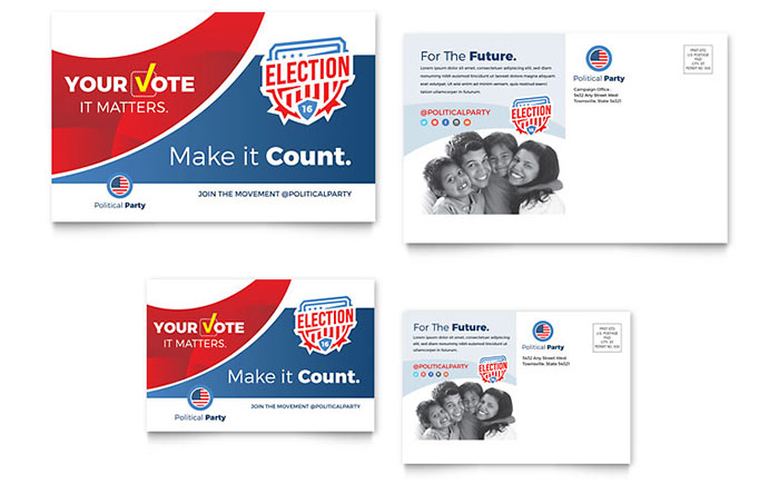 Election poster flyer designs for winning political for Voting flyer templates free