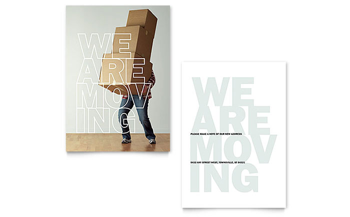 Were Moving Announcement Template Design