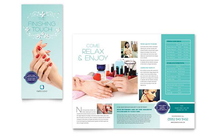Tri-fold Brochure Example - Nail Technician