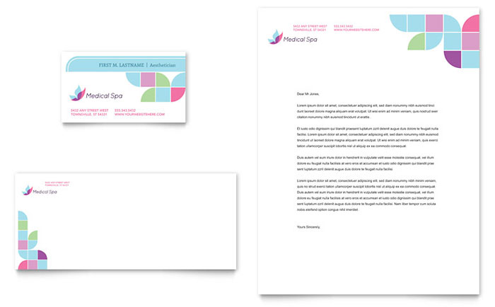 Stationery Sample - Medical Spa