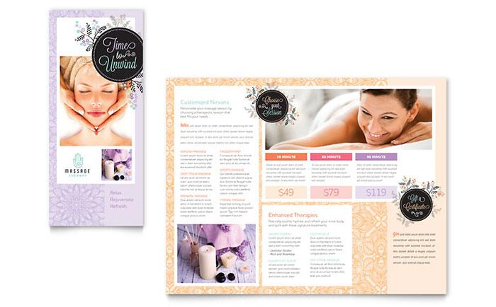 Massage Brochure Example