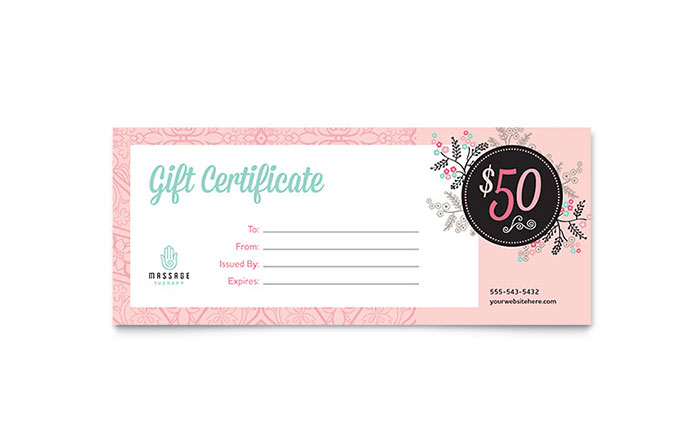 massage gift certificate template free download - day spa graphic design ideas inspiration