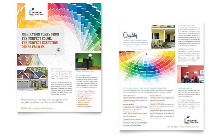 House Painting Contractor Sales Sheet Design
