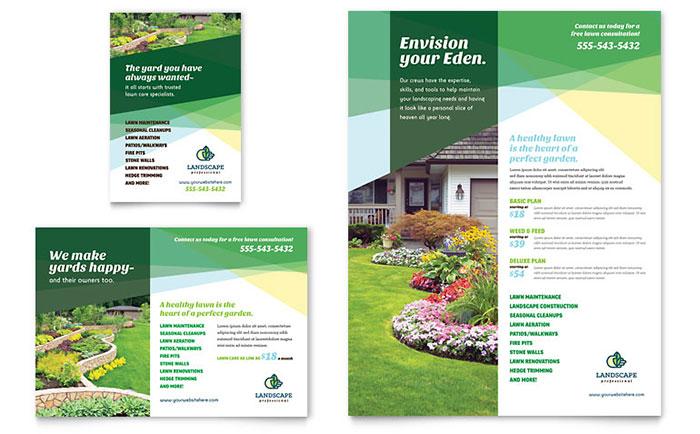 Landscaping Service Advertisement Idea