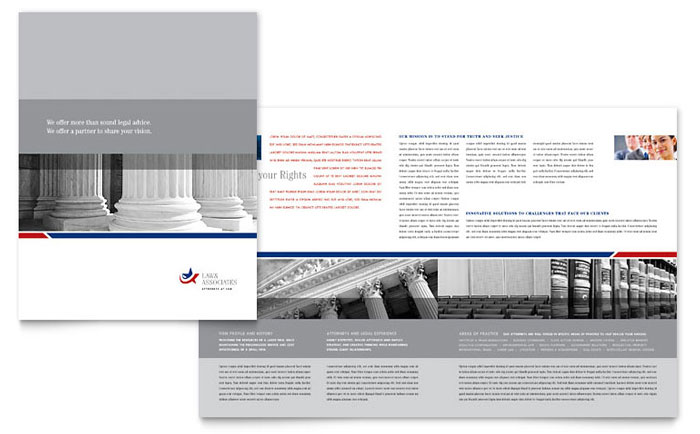 Legal Amp Government Services Brochure Template Design