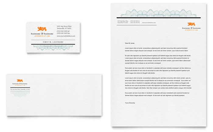 Attorney Letterhead & Business Card Example