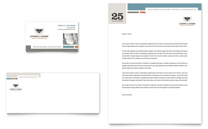 Family Law Attorneys Stationery Design
