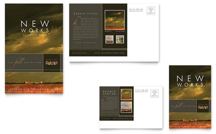 Art Gallery Postcard Design